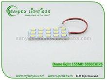 2014 New led car light 12 volt led dome light 15SMD 5050 led car interior light,automotive led