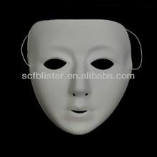 Custom white plastic party face mask