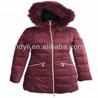 Ladies Duck/Goose Down Jacket With Detactable Fur Hood
