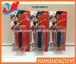 Elastic finger skateboard toy