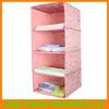 4 shelves Hanging closet storage bag/210T nylon fabric hanging storage bag