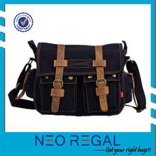 Canvas Shoulder Laptop Bag European Shoulder Bag for Men