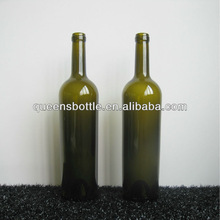 300MM, 750ML ANTIQUE GREEN, DARK GREEN GLASS WINE BOTTLE