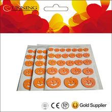 cute funny DIY kids eva puffy halloween pumpkin sticker