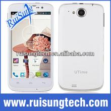 UTIME U100S Mobile Phone MTK6582 Quad Core 1.3GHz SG Muti language 512MB Ram 4GB Rom 8.0MP Back Camera free leather case