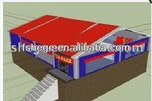 prefabricated beach house/prefab Restaruant in china