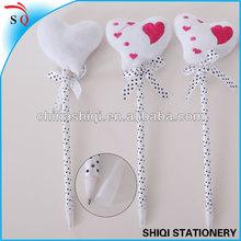 promotional new designed lovely lint heart craft pen