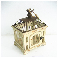 Small decorative make wooden bird cage antique bird cage