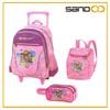 2014 kids trolley set travel school bags wholesale