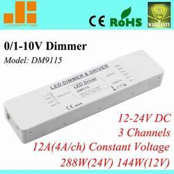 2014 Economic led dimmer 12v light dimmer led driver dimmable with active&passive 0-10V DM9115