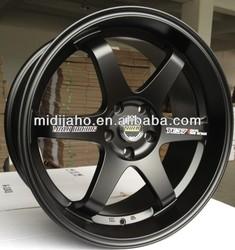 Matt Black Volk TE37 Auto Aluminum Wheel Rim For Racing Car(Drifting)
