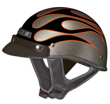 European style half helmet leather for motorcycle