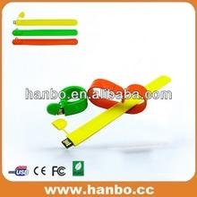 hot bracelet 1gb 2gb 4gb 8gb 16gb 32gb usb flash drive gift in high quality