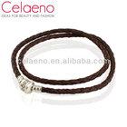Wholesale Plain Leather Bracelet Stamped 925