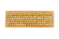 2.4G wireless bamboo keyboard(3 key pads) - wireless mini keyboard for laptop