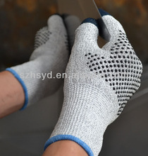 CE approval Seamless super Anti -cut -EN388 standard, thumb nitrile and both side dots safty gloves