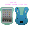 Rabbit cartoon silicone case for ipad mini