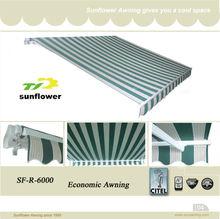 Fashion economic aluminium retractable awning