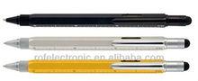 Amazing DIY 5 in 1 tool pen with gradienter,ruler,screw driver (4 inch) Ruler:1:100;1:200:1:300 4 face printing
