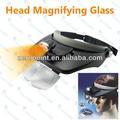 multi funcional 2 llevó 3d cabeza de la lente de la luz joyas de cristal de aumento