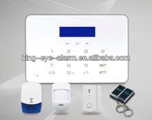 LCD touch pad low voltage sms alert, home burglar wireless gsm security alarm manual (KI-G50W)