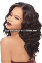Free shipping body wave stock Front Lace Wig / glueless Full lace wig Indian hair lace wigs Natural hairline for black women