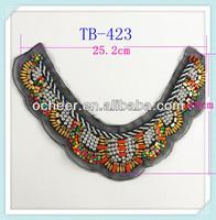 2014 newest neck designs bead work