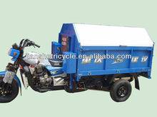 Hot selling truck cargo tricycle for garbage with cabin