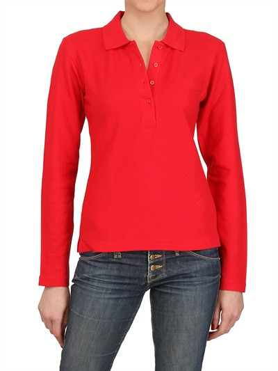 wholesale high quality women's polo shirt 100% cotton