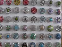 Factory wholesale metal button snaps for leather bracelet, custom metal snap button, metal press stud buttons