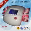 Lipolysis slimming machine laser lipo machine for home use