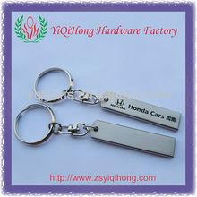 New design card brand logo metal keychain