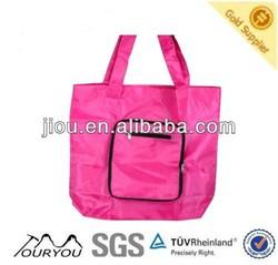 High quality cheap hot sales nylon foldable reusable shopping bag