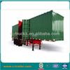 China 60 ton cargo box semi trailer enclosed box trailer