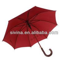 23 Inches 8 Ribs Auto Open Red Commercial Umbrella Hotel Used Umbrella