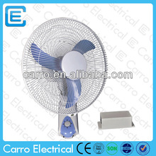 Competitive price high speed 16inch battery mounted wall fans 12v wall mounted fan with battery