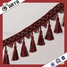Curtain Tassel Fringe Trimming medallion chair lace,air curtain mosquito tassel
