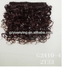wholesale synthetic kinky hair clip on extensions