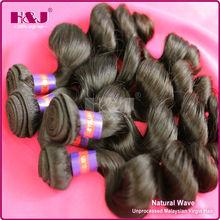 H&J malaysian popular hot sales 5a+ grade virgin weaving 100% human hair