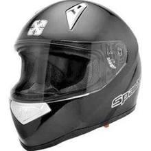 SparX Tracker Full-Face Motorcycle Helmet - Matte Black TR