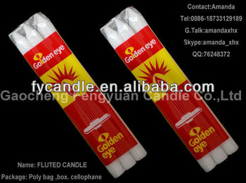 South Africa superior quality - white fluted candle/lighting wax bougies