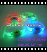 Hot selling concert led voice bracelet, Led light glow Voice Chip Sound control wristband, Sound Activated Bracelet