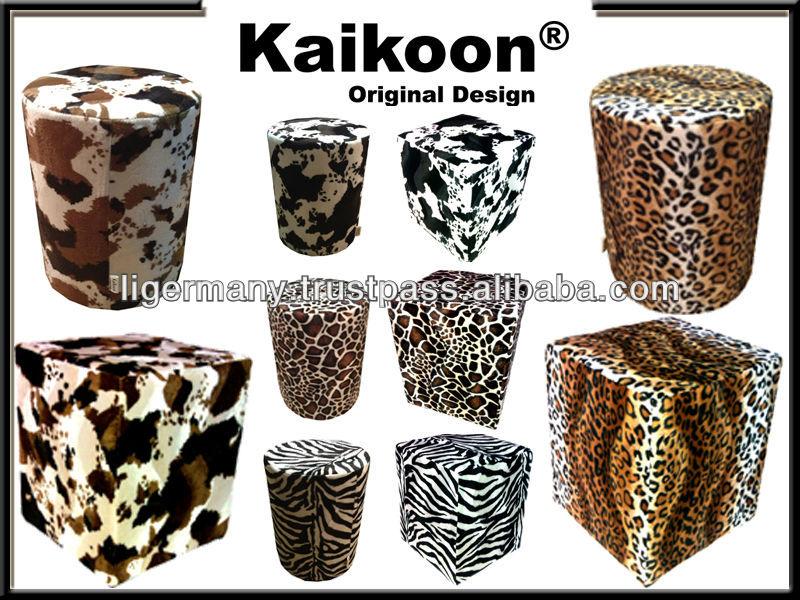zebra wohnzimmer:kubus hocker kunstpelz zebra wohnzimmer sessel-Hocker & Bänke-Produkt