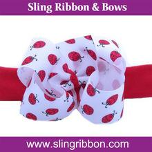 Ribbon Elastic Flower Headband For Girls