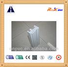3 tracks sliding pvc plastic window profile