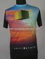 100% poliéster dri fit impressão por sublimação 3D T camisa