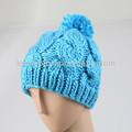 Venta caliente de la moda hecha a mano de punto de señora earflap gorro de invierno gorra sombreros y km-1616