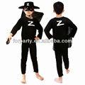 Zorro pc-0607 fantasia para crianças miúdos