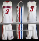 100% polyester custom basketball uniform with high quality