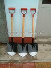 lightweight red painted D grip cheap round nose shovel